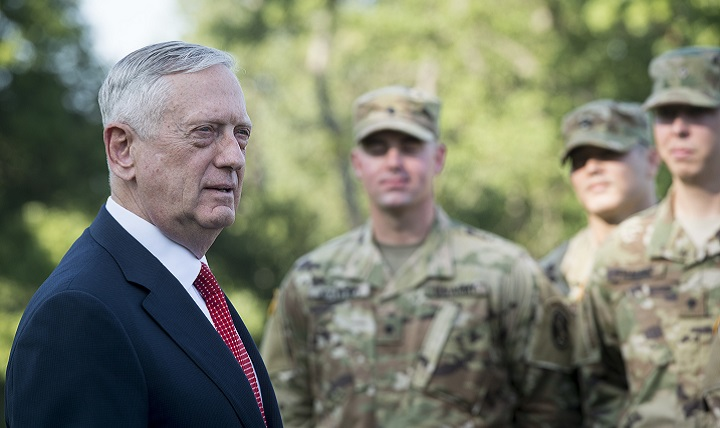Secretary of Defense, Jim Mattis