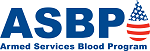 Armed Services Blood Program (blue) logo