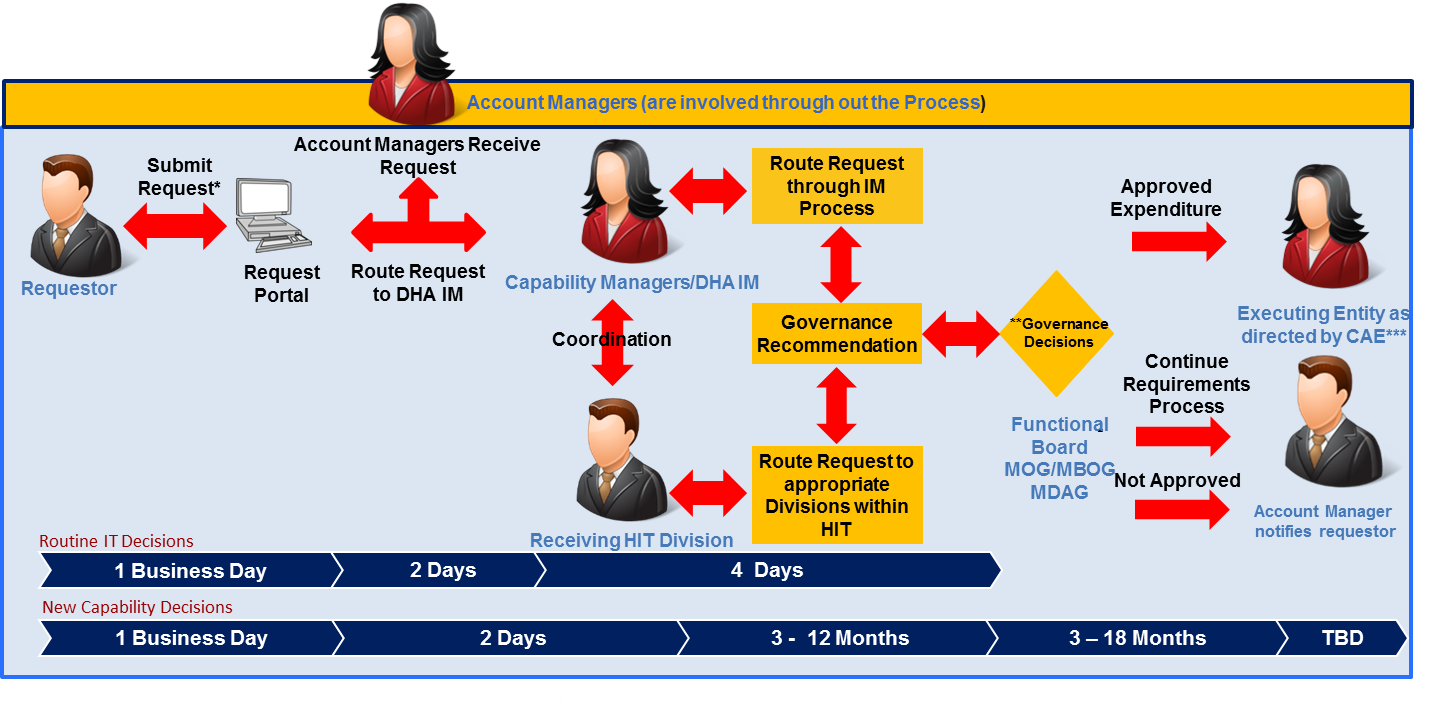 Information Management Requirements Submissions Process Graphic
