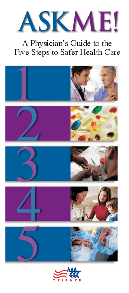 Ask Me Physician Brochure Front Cover White