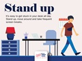 stand up while teleworking