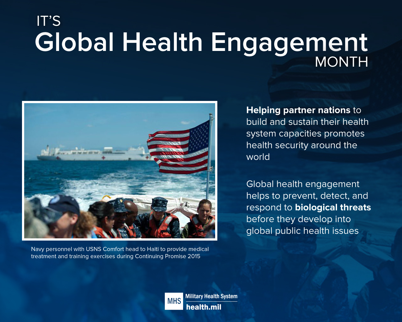 Inforgraphic for Global Health Engagement Month
