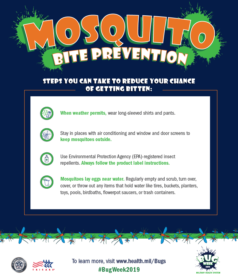 Steps to take to keep from getting bitten by mosquitoes