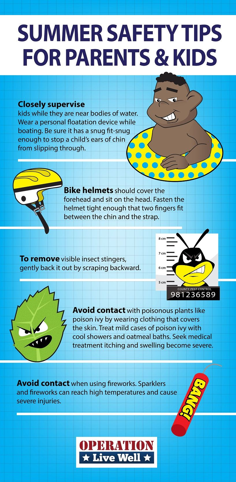 Summer safety infographic