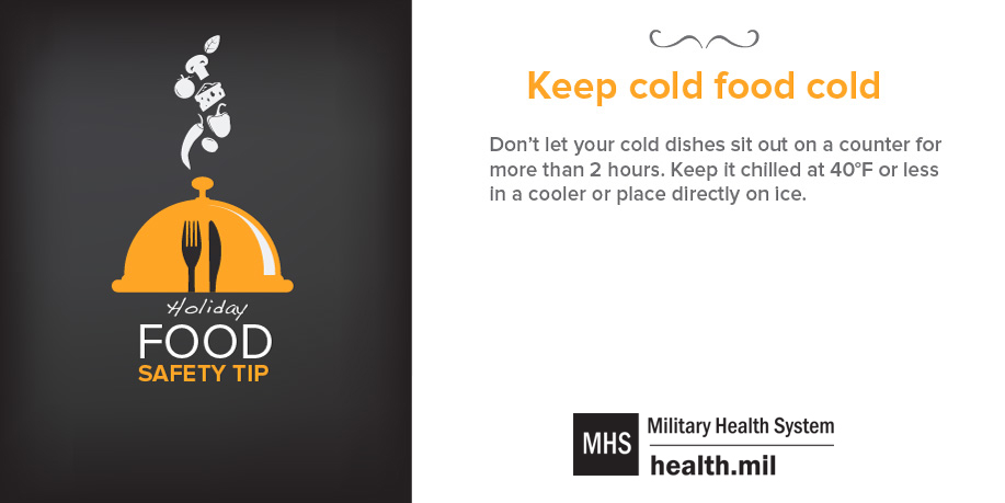 Food Safety Tip: Keep cold food cold