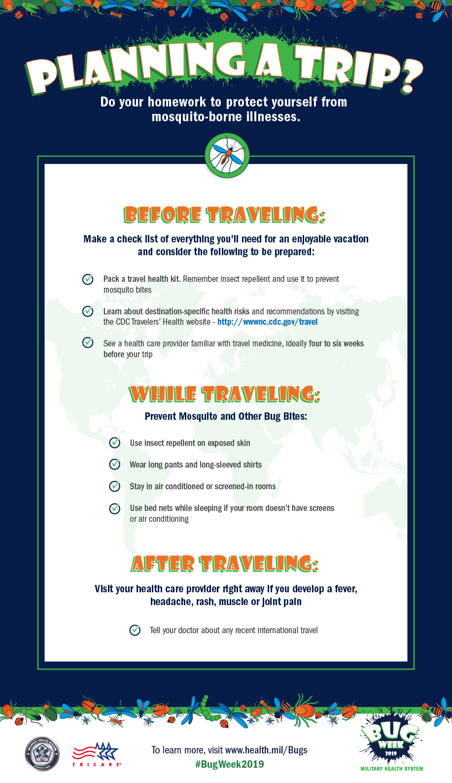 Tips to help your trip to be bug bite free