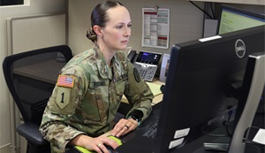 Military personnel responding to an email