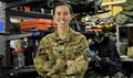Air Force Capt. Asha Wyatt, 455th Expeditionary Aeromedical Evacuation Squadron aeromedical evacuation operations officer and flight nurse, poses for a photo at Bagram Airfield, Afghanistan, Dec. 28, 2017. Wyatt is deployed from Pope Army Airfield, N.C., and has been in the Air Force for six years. Air Force photo by Staff Sgt. Divine Cox