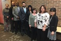 Members of DLA Troop Support Medical supply chain and DLA Distribution pose for a photo at an after action review for the Department of Defense's Influenza Vaccination Program at Fort Detrick, Maryland Feb. 5, 2019. The Medical supply chain made approximately 3.4 million doses of the influenza vaccine available at military treatment facilities and U.S. Navy Fleet clinics around the world in support of the DOD's Influenza Vaccination Program. (DoD photo by Alexander Quiñones)