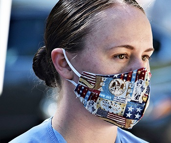 Image of Hannah Carlson wearing a mask