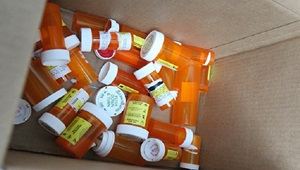 Photo of empty pill bottles