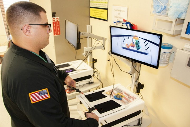 Beaumont Army Medical Center only laparoscopic surgery test