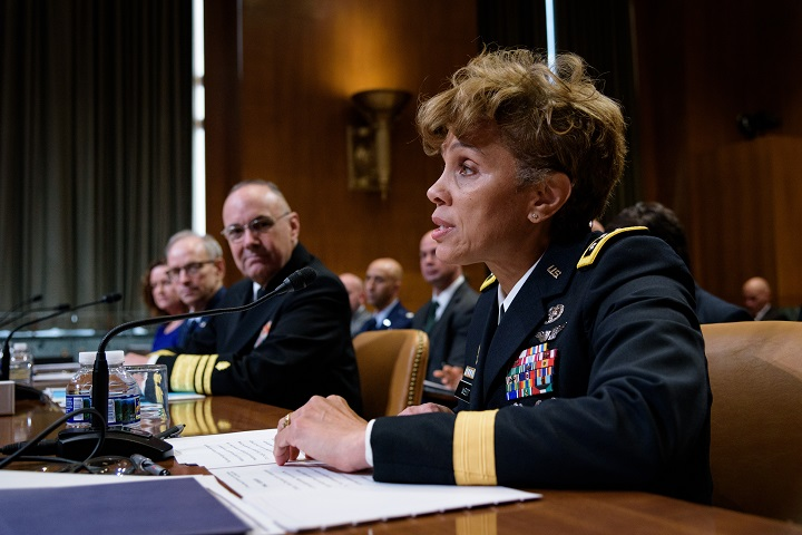 Lt. Gen. Nadja Y. West, the Army Surgeon General and commanding general for Army Medical Command, addressed the Army's fiscal year 2019 funding request and budget justification before the U.S. Senate Committee on Appropriations on Capitol Hill, April 26. (Courtesy photo provided by the Senate Appropriations Committee)