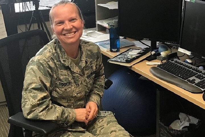 Air Force 1st Lt. Danielle Dockery is a licensed clinical social worker with the 88th Medical Group's Intensive Outpatient Program. (Courtesy photo)