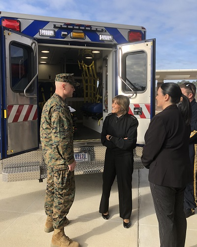 """Achieving level III trauma designation is not just granted to any facility that applies — there is a medical rigor and standards that must be met,"" said Navy Vice Admiral Raquel C. Bono, Director, Defense Health Agency. (Courtesy photo)"