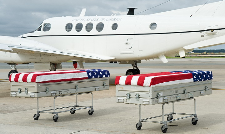 On Sept. 28, 2016, approximately 170 years after the war, as many as 13 skeletal remains were returned to U.S. soil and honored during a solemn movement at Dover Air Force Base in Delaware. (U.S. Air Force photo)