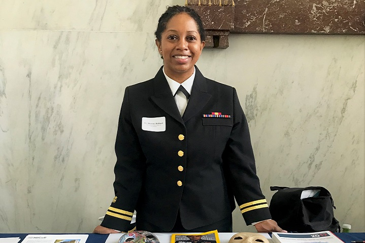 U.S. Public Health Service Lt. Sherray Holland, education and outreach lead at the National Intrepid Center of Excellence, Walter Reed National Military Medical Center, participates in the 2019 Brain Injury Awareness Day event at Capitol Hill, in Washington, D.C. (Photo by NICoE Public Affairs)