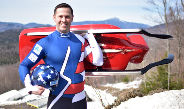 Army Sgt. Matt Mortensen, a two-time Olympian, has been competing in doubles luge since 2011 as a member of the Army World Class Athlete Program. (U.S. Army photo)