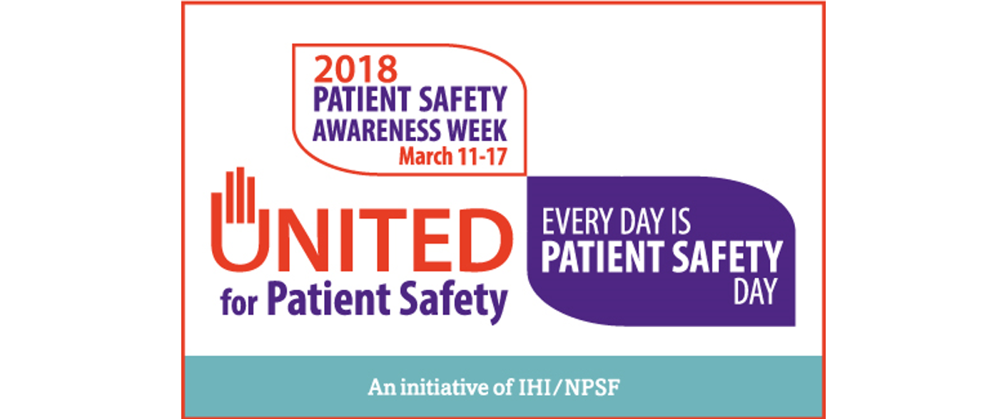 Patient Safety Awareness Week 2018 campaign logo.