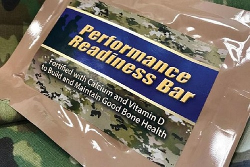 U.S. Army's Performance Readiness Bar. (U.S. Army photo by Mallory Roussel)