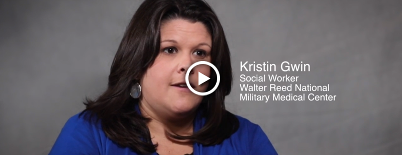 Kristin Gwin, a Social Worker at Walter Reed National Military Medical Center understands that getting help can be an intimidating process. She offers advice on how to get started by letting a professional know you want help.
