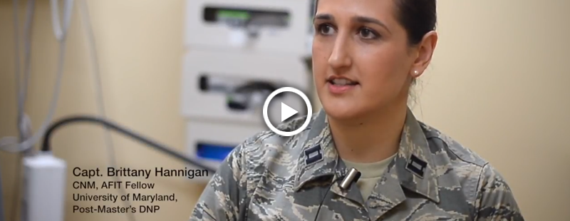 Military midwives assist in advancing military medicine. Capt. Brittany Hannigan uses educational opportunities to bring evidence-based practices to the patient's bedside.