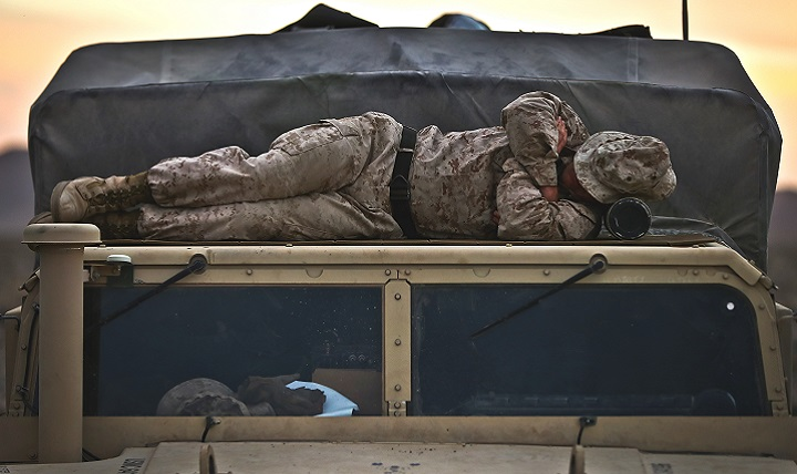 Despite the medically proven linkage between sleep and readiness, all too often sleep is viewed as a luxury by some service members. Getting a good night's sleep can result in increased productivity at work, as well as a reduction in injuries, errors and accidents. (U.S. Marine Corps photo by Cpl. Aaron S. Patterson)