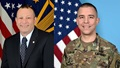 A picture of Pat Flanders, the DHA's chief information officer and deputy assistant director for information operations and Army Maj. Ryan Costantino, data innovation chief for the Program Executive Office