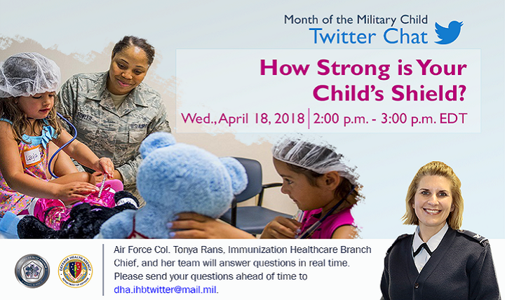 The childhood immunization schedule is perhaps the most important tool we have in preventing and eliminating diseases according to Air Force Col. Tonya Rans, chief of the DHA's Immunization Healthcare Branch. (MHS graphic)