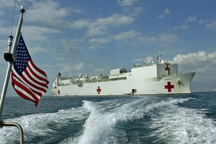 The U.S. Navy hospital ship USNS Comfort is scheduled to deploy in to the Caribbean, Central America and South America to conduct humanitarian medical assistance missions in support of regional partners and in response to the regional impacts of political and economic crises in Venezuela. (U.S. Navy photo)