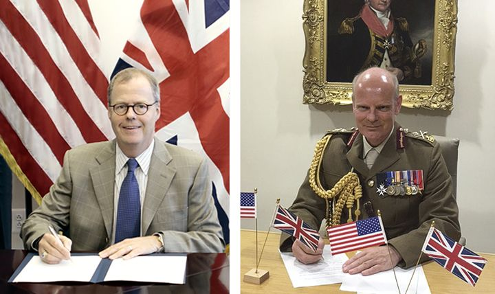 Acting Assistant Secretary of Defense for Health Affairs Tom McCaffery signs a Task Force Charter with the acting Surgeon General of the United Kingdom Ministry of Defence, Major General Martin Bricknell, continuing a UK-US partnership to advance interoperability between military medical services. McCaffery reaffirmed that the partnership enables both countries to better equip our Armed Forces community with the best possible medical support and capabilities for service personnel, veterans, and their families. By sharing information and developing opportunities for combined training and collaborative research, the United States and United Kingdom are committed to advancing military medical services and working side-by-side in defense of global interests.