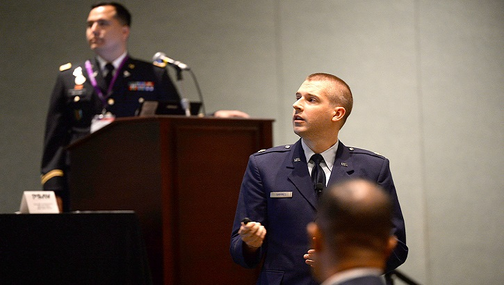 Air Force Maj. Jeffrey Barnes, chief medical information officer for DHA Medical Logistics, is coordinating the transition of DHA medical logistics as well as the medical device Risk Management Framework. (DHA photo)