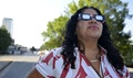 "There is only one safe way to look directly at the sun, whether during an eclipse or not and that is with special-purpose solar filters. These solar filters are used in ""eclipse glasses"" or in hand-held solar viewers. They must meet a very specific worldwide standard known as ISO 12312-2. (U.S. Army photo by Mark Rankin)"