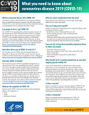 Image of CDC Factsheet: What You Need to Know