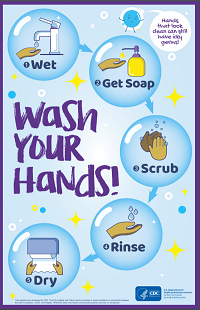 Downloadable CDC Poster: Wash Your Hands!