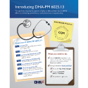 An infographic providing an overview of DHA-PM 6025.13