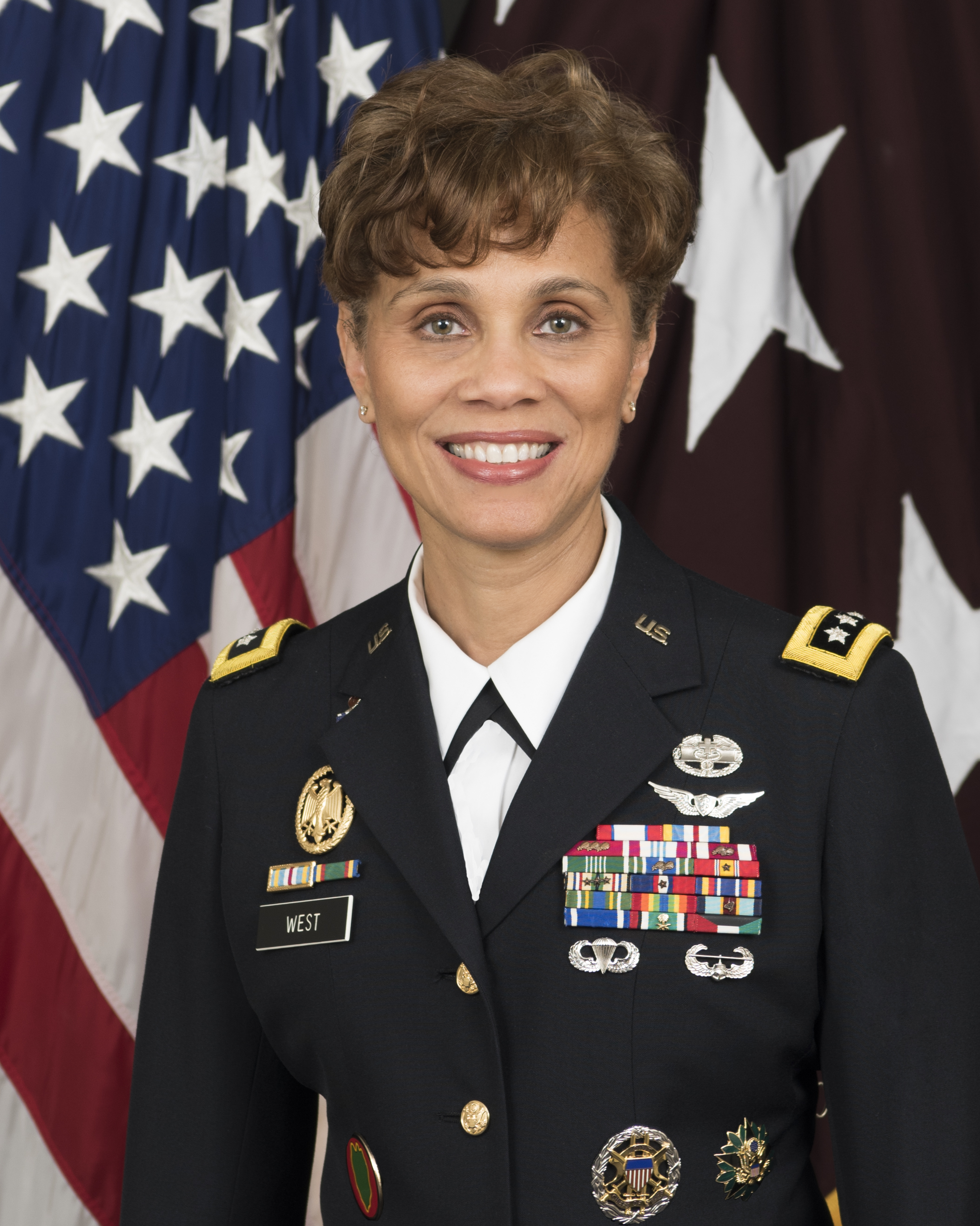 Official image of Army Surgeon General, Nadja West