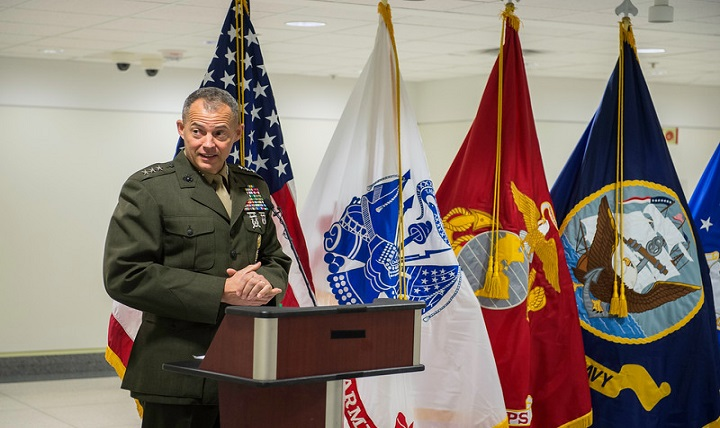 Marine Corps Lt. Gen. Robert R. Ruark, military deputy to the acting Secretary of Defense for personnel and readiness, was the keynote speaker for the Suicide Prevention Month kickoff event at the Pentagon, Sept. 7, 2016.
