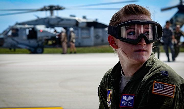 U.S. Air Force Capt. Regan Will, a flight nurse with the 18th Aeromedical Evacuation
