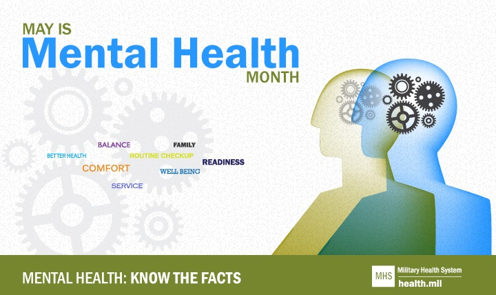 Mental Health Month graphic