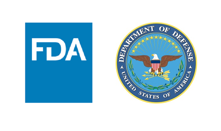 FDA and DOD logos
