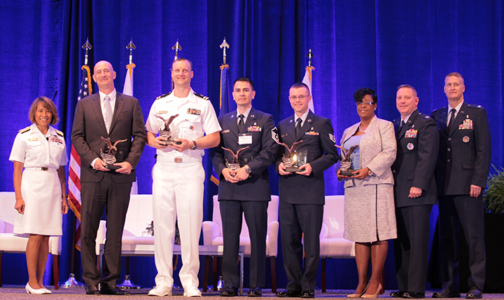 Congratulations to all DHA/J-6 award winners! Awards for Field Grade Officer of the Year, Company Grade Officer of the Year, Senior NCO of the Year, NCO of the Year, and Civilian of the year were presented at the Defense Health Information Technology Symposium on July 25, 2017 in Orlando, Florida.