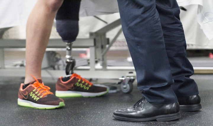 From the impact of prosthetics on energy and strength to its influence on daily tasks, experts share research being done on musculoskeletal injuries at the Military Health System Research Symposium in Kissimmee, Florida. (Air Force photo by Master Sgt. Adrian Cadiz)