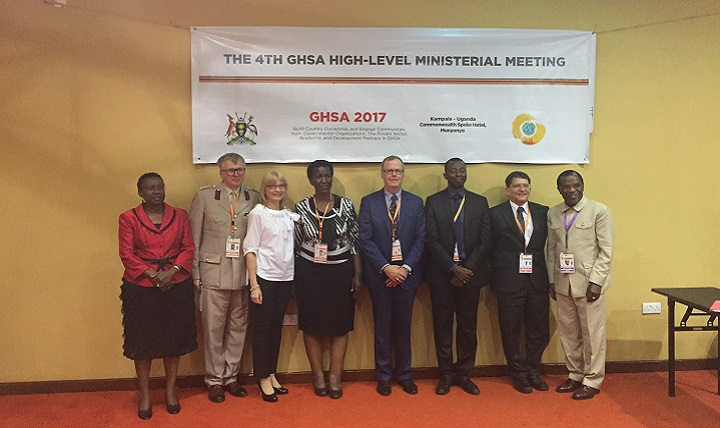 Acting Assistant Secretary of Defense for Health Affairs Tom McCaffery (center), represented the DoD and participated in the first-ever defense panel at a GHSA Ministerial.