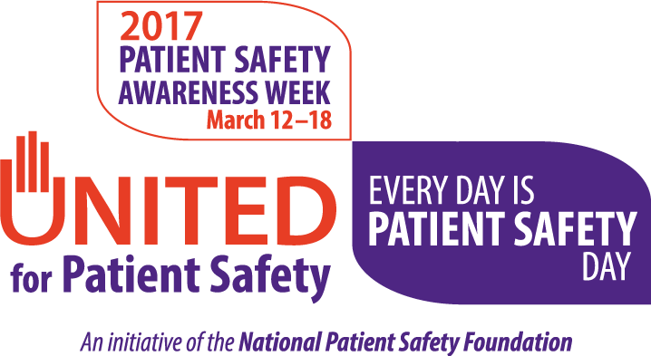 Patient Safety Awareness Week campaign logo.