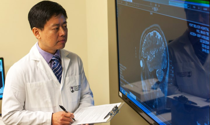 Dr. Heechin Chae heads the National Intrepid Center of Excellence satellite office at Fort Belvoir, Virginia, one of nine special centers within the Military Health System to treat those suffering from TBI.