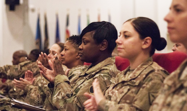 As the number of women in the military, as well as those transitioning to VA care, continues to grow, the DoD and VA are working together to meet health-related needs for female service members. (U.S. Army photo by Sgt. Angela Lorden)