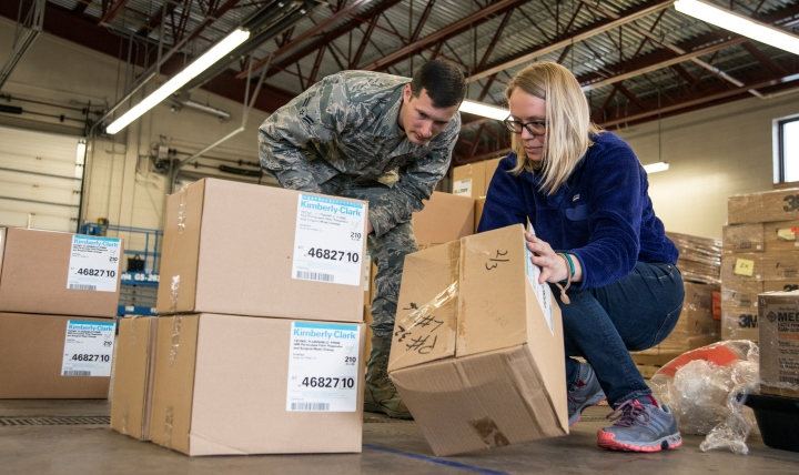 Medical logistics is an important piece in the continuum of care for warfighters, retirees and their families. (U.S. Air Force photo by Airman 1st Class Jeffrey Tatro)