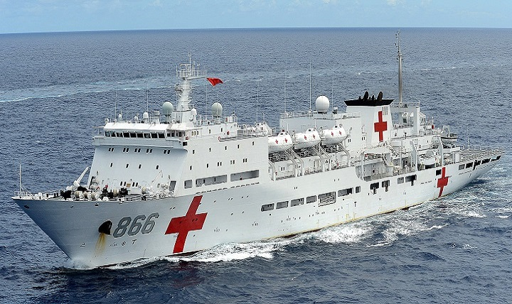 File photo of the Republic of China, People's Liberation Army Navy (PLA[N]) hospital ship Peace Ark (U.S. Navy photo by Mass Communication Specialist 1st Class Shannon Renfroe)