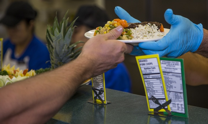 Most Americans get more than 75% of their sodium from prepared and processed foods, including tomato sauce, soups, gravies, canned foods, bread, frozen pizzas, snack foods, and salad dressings. (U.S. Marine Corps photo by Lance Cpl. Jesus McCloud)